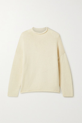 LAUREN MANOOGIAN Pima Cotton And Merino Wool-blend Sweater - Cream