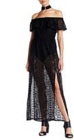 Trixxi Lace Off-the-Shoulder Maxi Dress