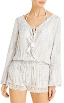Thumbnail for your product : Surf.Gypsy Printed Romper Swim Cover-Up