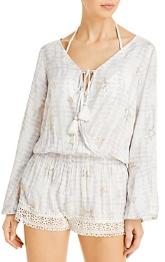 Surf.Gypsy Printed Romper Swim Cover-Up
