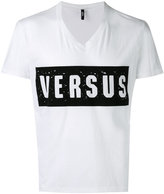 Versus distressed logo T-shirt - men - Cotton - S