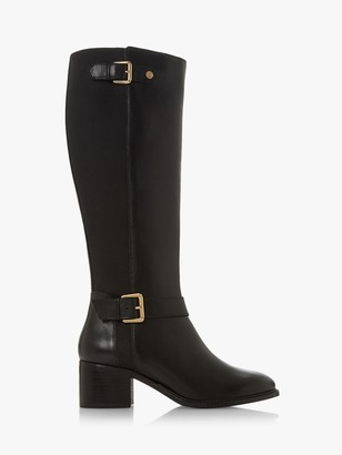 Dune Tildaa Wide Fit Leather Buckle Knee High Boots