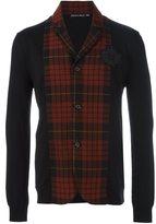 Alexander McQueen tartan panel knit blazer