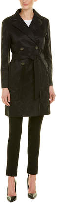 Cinzia Rocca Icons Crinkled Belted Trench Coat