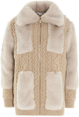 Stella McCartney Fur Free Fur Knit Jacket