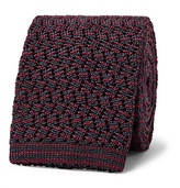 Rubinacci - 6cm Knitted Silk Tie - Red