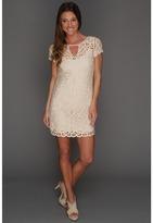 BCBGMAXAZRIA Lalinda Lace Crochet Dress (Almond Blossom) - Apparel