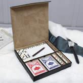 Dibor Personalised Gentlemen's Cards, Dice And Domino Set
