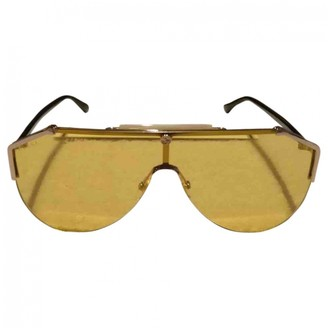 Gucci Yellow Metal Sunglasses