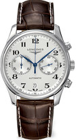 Longines L26294783 croc-embossed master watch