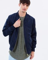 SikSilk Suede Bomber