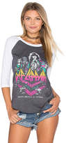 Junk Food Clothing Def Leppard Baseball Tee in Charcoal. - size XS (also in )