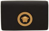 Versace Black Medusa Flap Over Wallet