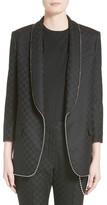 Alexander Wang Women's Chain Trim Checkerboard Wool Blazer