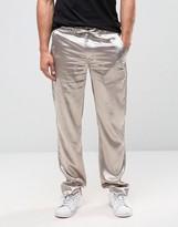 Asos Slim Smart Slinky Pants In Silver