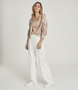 Reiss JUNIE RELAXED TWIN POCKET OVERSHIRT Nude