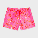 Paul Smith Men's Pink 'Leopard Frog' Print Swim Shorts