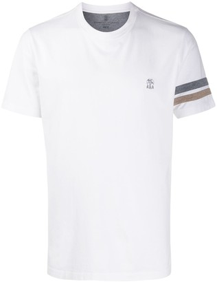 Brunello Cucinelli stripe-detail short sleeve T-shirt
