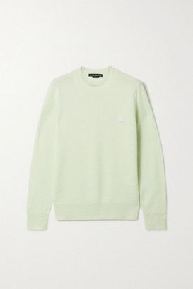 Acne Studios Appliqued Wool Sweater - Mint