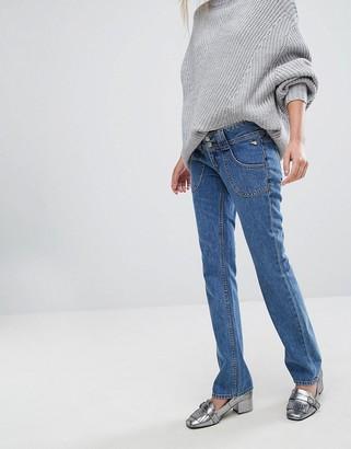 J Brand x Bella Freud Low Rise Straight Leg Jean-Black