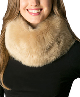 Pure Style Girlfriends Taupe Faux Fur Magnetic Lock Snood