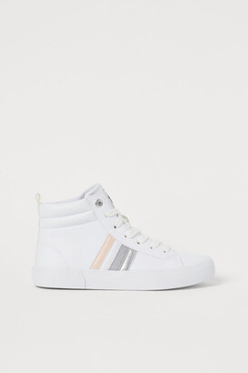 H&M Hi-top trainers with glitter