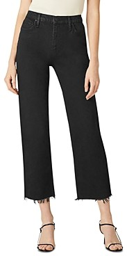 Hudson High Rise Straight Cropped Jeans in Worn In