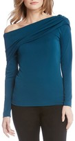 Karen Kane Women's One-Shoulder Drape Top