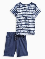 Splendid Little Boy TieDye Henley Tee and Short Set