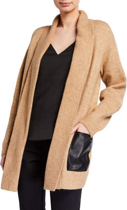 MICHAEL Michael Kors Cardigan with Faux-Leather Pockets