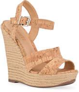 Schutz Dorida Cork Espadrille Wedge Sandals