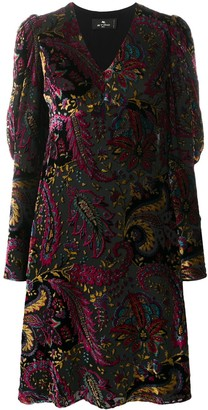 Etro Paisley-Print Flared Dress