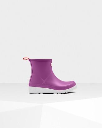 Hunter Women's Original Play Short Speckle Rain Boots