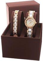 August Steiner Women's AS8142YG Analog Display Quartz Two-Tone Watch Set