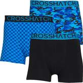 Crosshatch Mens Darner Three Pack Boxers Black/Swedish Blue/Skydiver