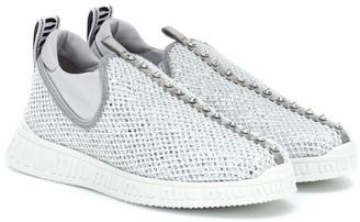 Miu Miu Crystal-embellished slip-on sneakers