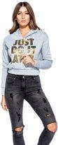 Momo&Ayat Fashions Ladies Just Do It Later Slogan Print Crop Hoodie Ca Size 6-12