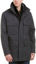 Andrew Marc Burnett Wool-Blend Coat