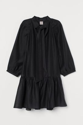 H&M Lyocell-blend Dress - Black
