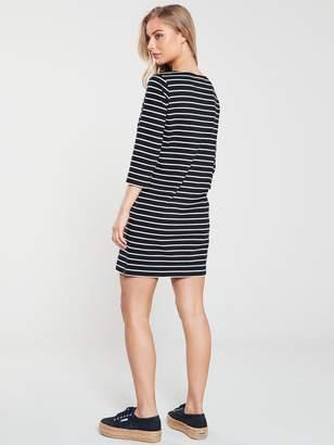 Very The Essential Three Quarter Sleeve Jersey Dress - Stripe