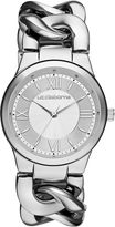 Liz Claiborne Womens Silver-Tone Link Chain Watch