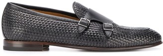 Silvano Sassetti Woven Buckle Detail Monk Shoes