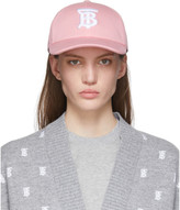 Burberry Pink Logo Baseball Cap