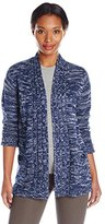 Jason Maxwell Women's Marled High/Low Cardigan Sweater