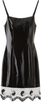STAUD Yin Yang Beaded Trimmed Dress