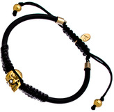 Swarovski Devora Libin Jewels Gold Skull And Crystal Black Paula Bracelet