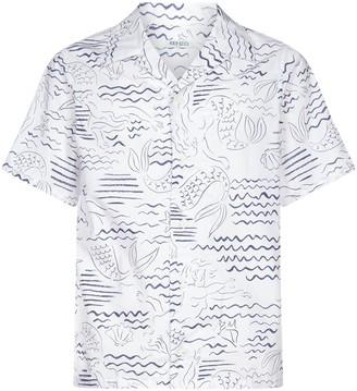 Kenzo Waves Mermaids Casual Shirt