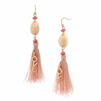 BCBGeneration Love Tassel Chandelier Earrings