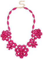 INC International Concepts M. Haskell for Gold-Tone Pink Bead Flower Statement Necklace, Created for Macy's