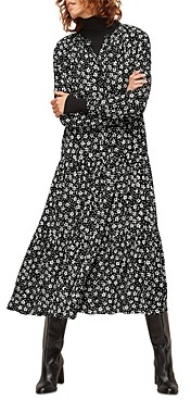 Whistles Daisy Trapeze Midi Dress